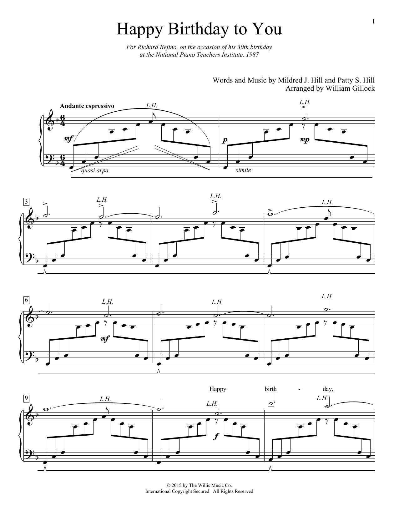 happy birthday song piano notes pdf