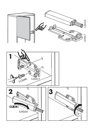 ikea besta push opener instructions