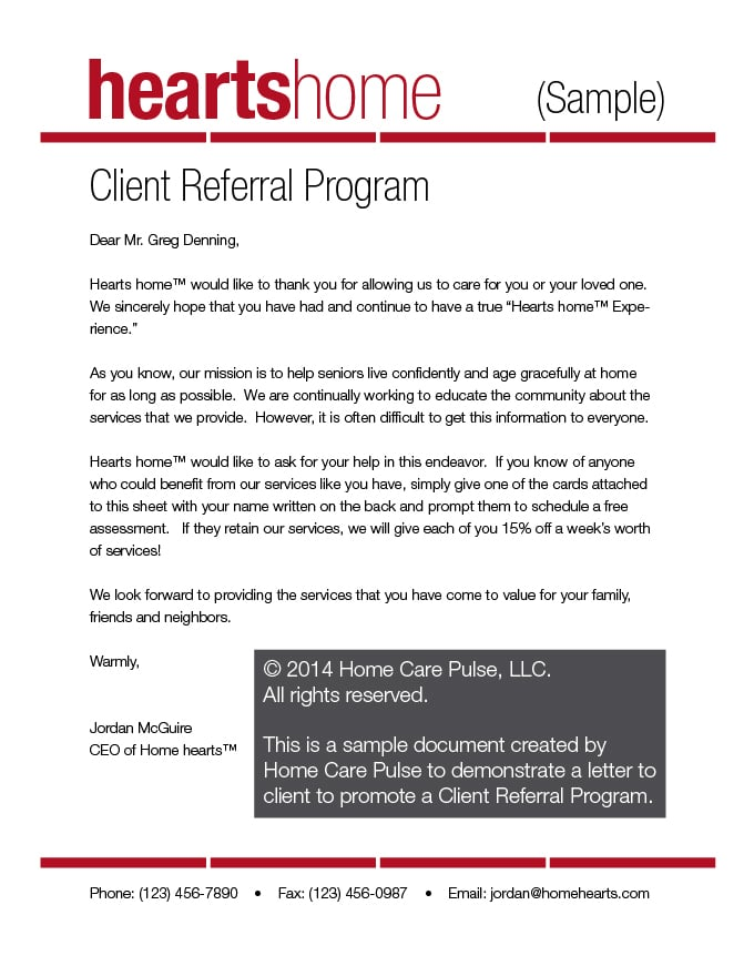 employee referral program sample email