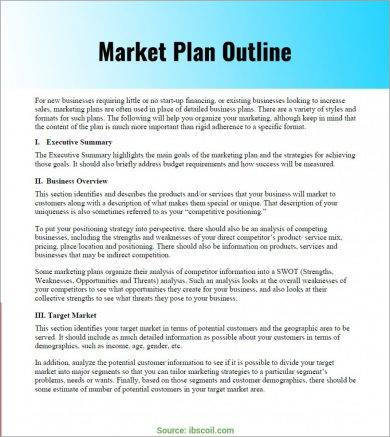 marketing plan for online business pdf