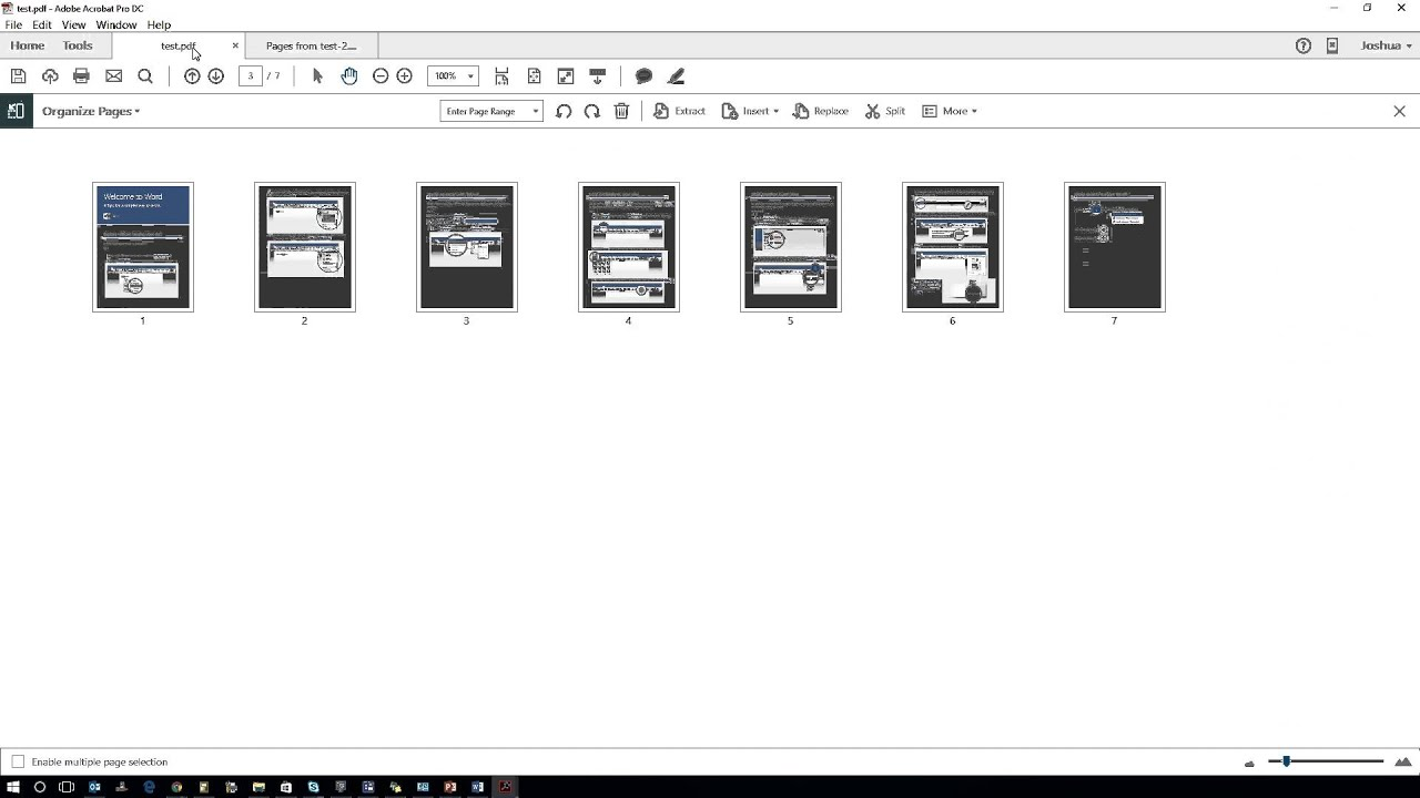 extract pdf pages adobe