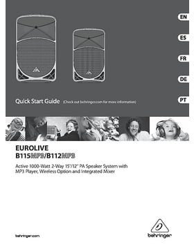 eurolive b115w manual