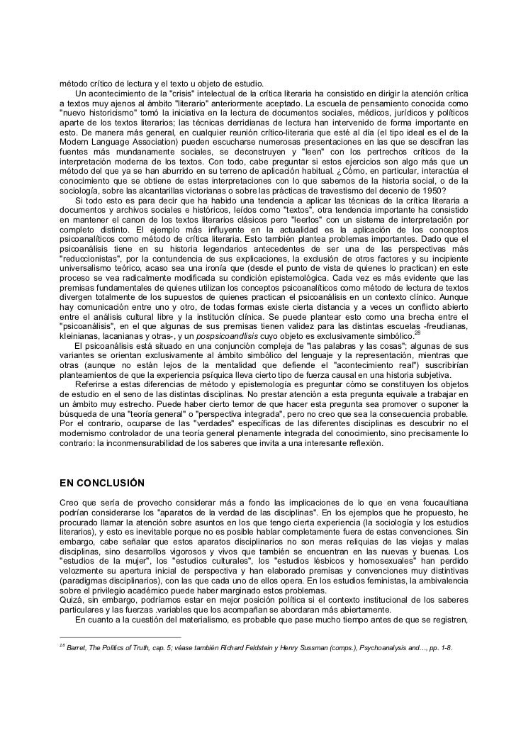 las palabras y las cosas pdf