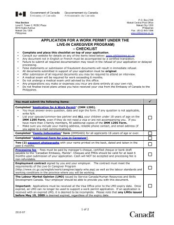lmia application form for live in caregiver