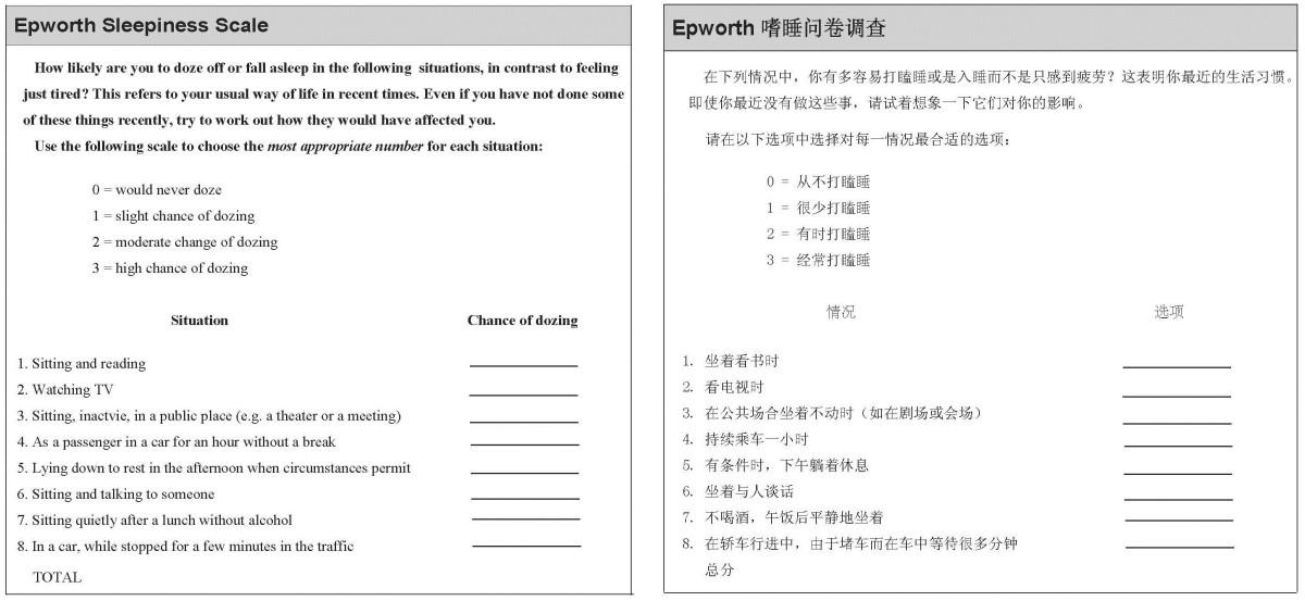 epworth sleepiness scale pdf spanish