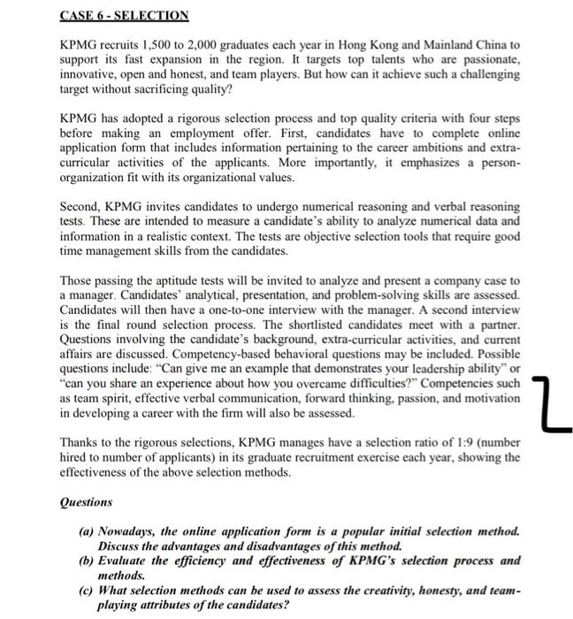 kpmg application process