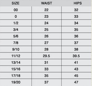 gap size guide womens