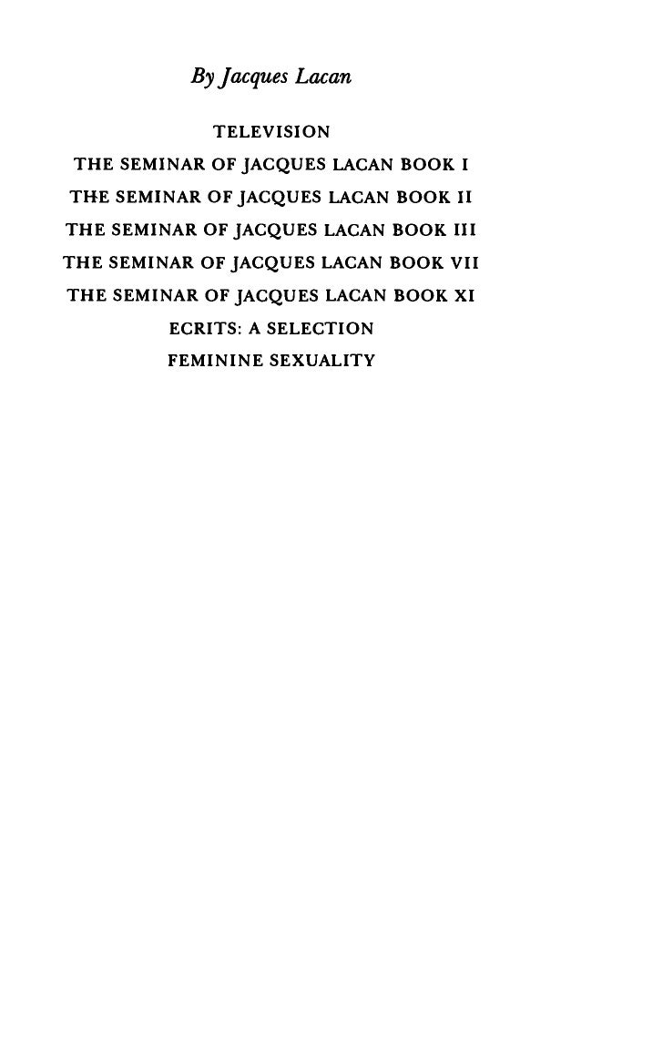 jacques lacan the four fundamental concepts of psychoanalysis pdf