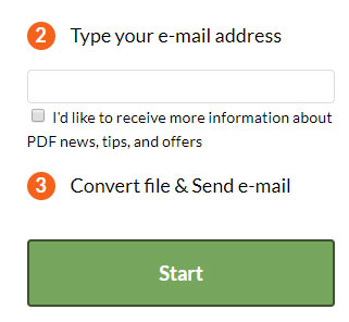 how to change an email to pdf