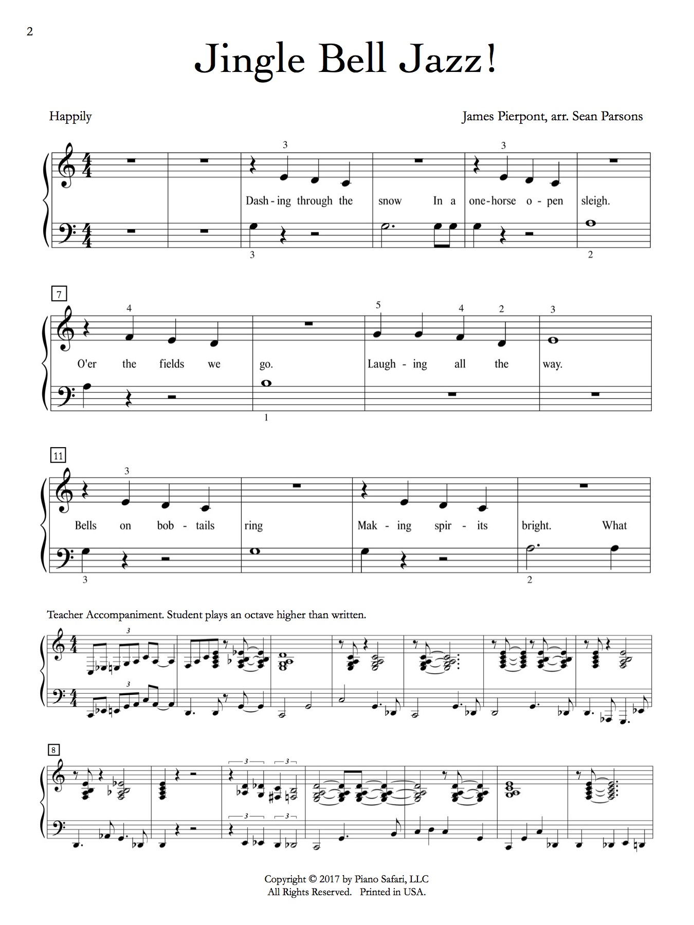 jingle bells piano pdf