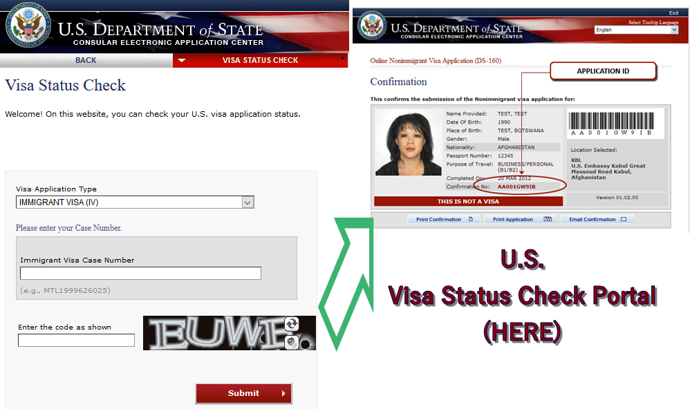 how to check the visa application status