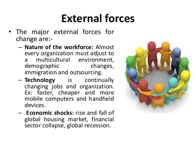 forces of change in organization pdf