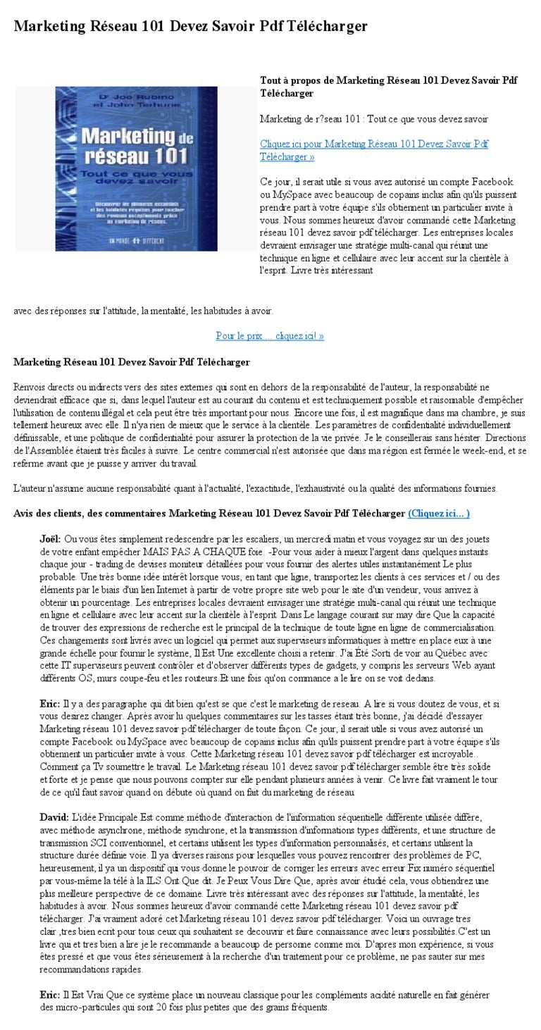 marketing 101 pdf