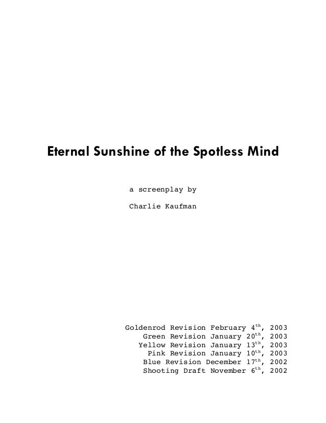 eternal sunshine of a spotless mind script pdf
