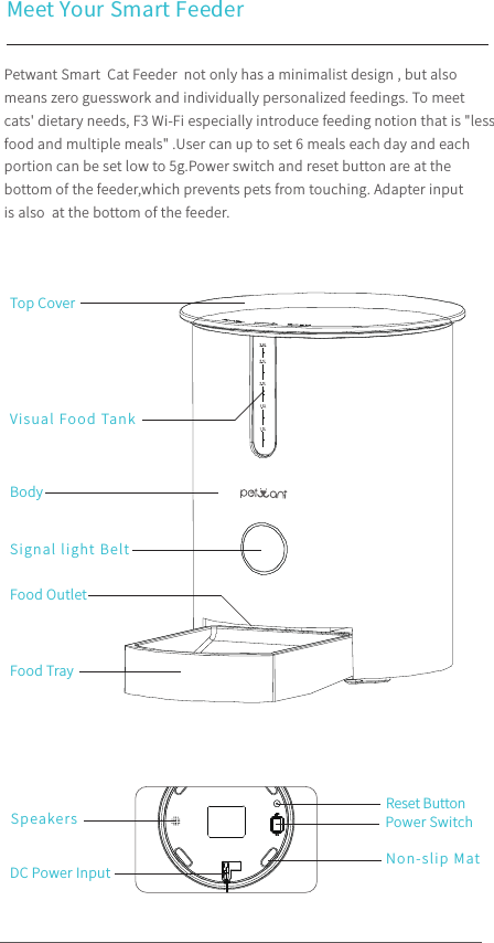 instructions for a cat feeder