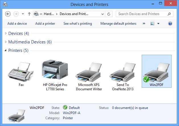 install pdf printer