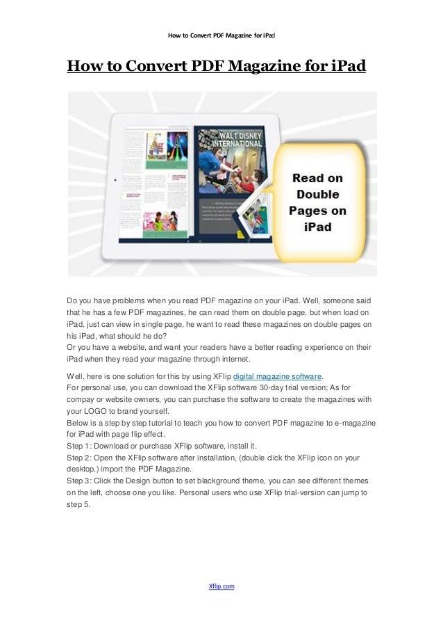 how do i use pdf on ipad