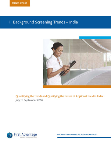 first advantage background check sample report india