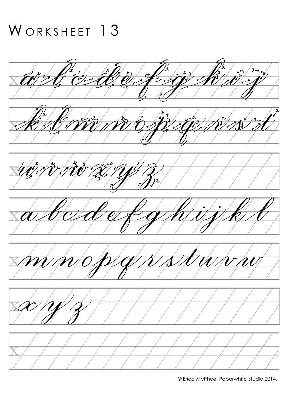 free calligraphy guide sheets