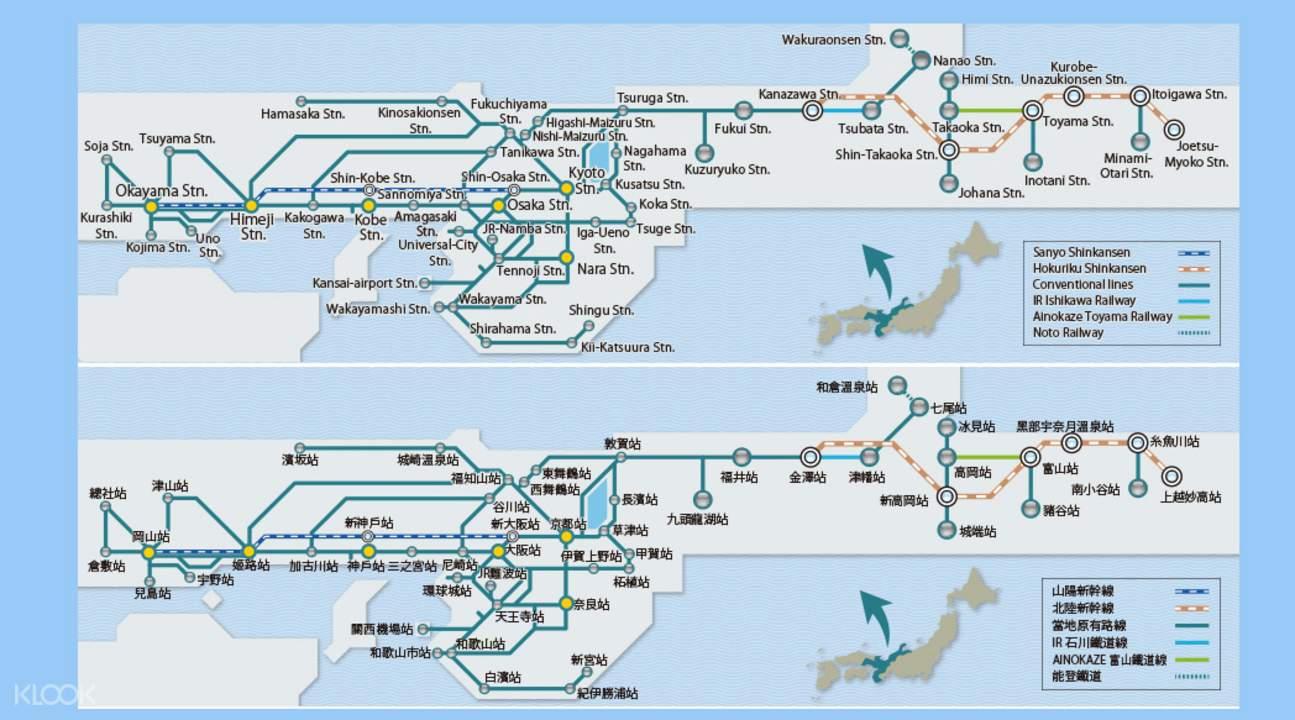 jr pass map pdf