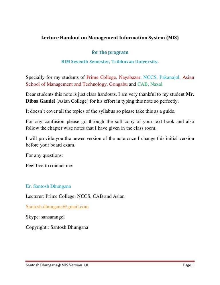 information system pdf notes