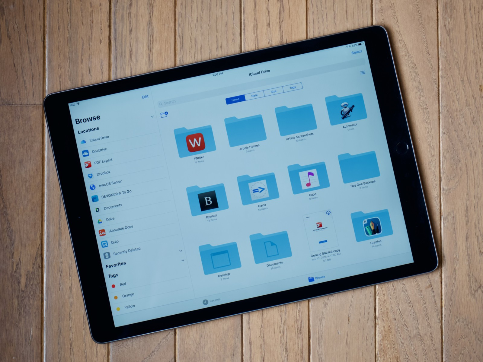 how to see application files on ipad