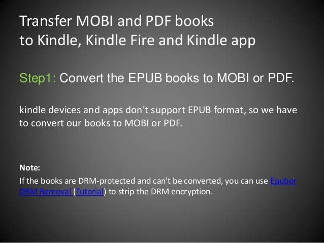 how to convert pdf to mobi on kindle