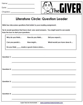 graphic novel worksheets pdf