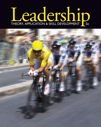 leadership theory application and skill development 5th edition pdf