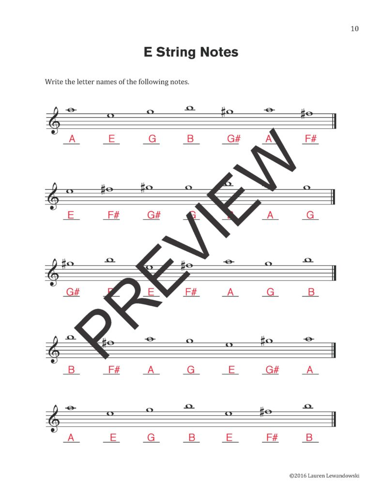 how to read violin notes for beginners pdf