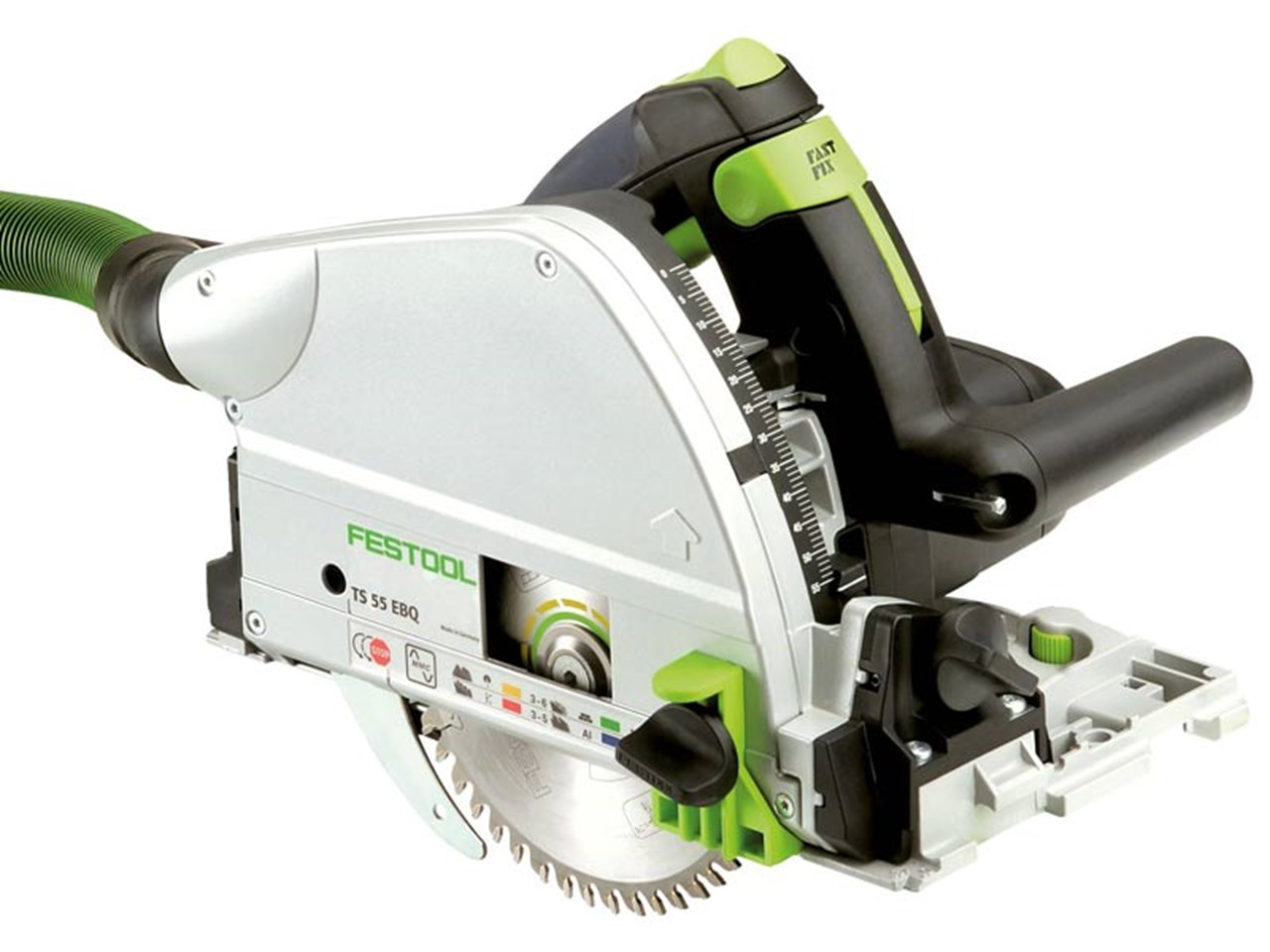 festool plunge saw with 2 guide rails