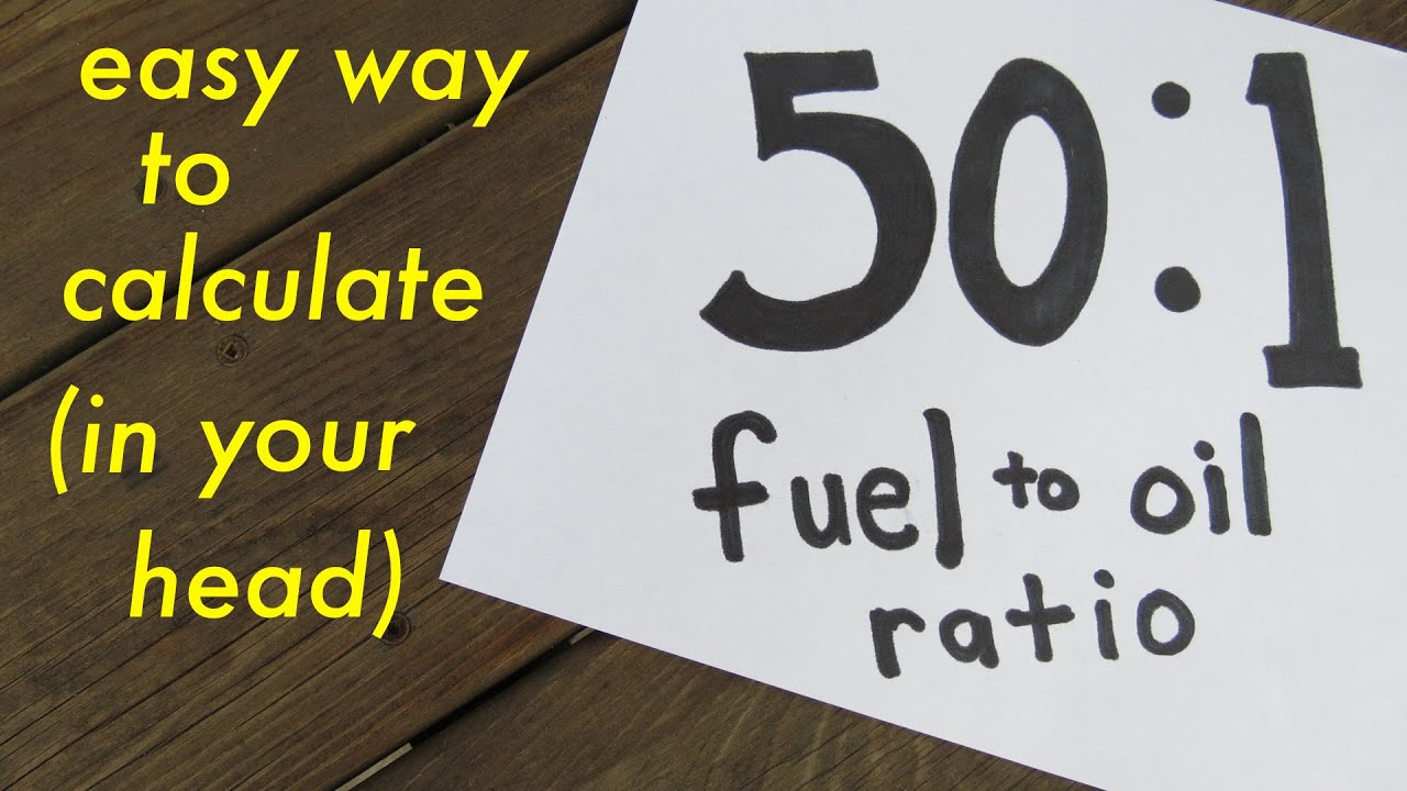 fuel mixing ratio guide