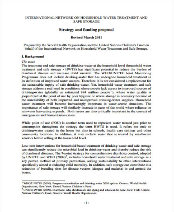 funding proposal sample for ngos