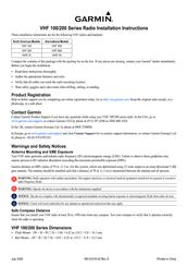 garmin vhf 110 210 ais series manual