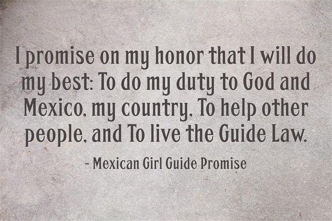 girl guide promise in spain