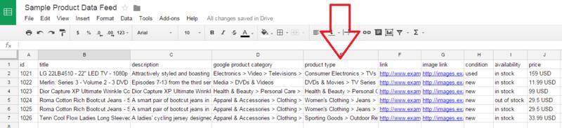 google product feed sample xml