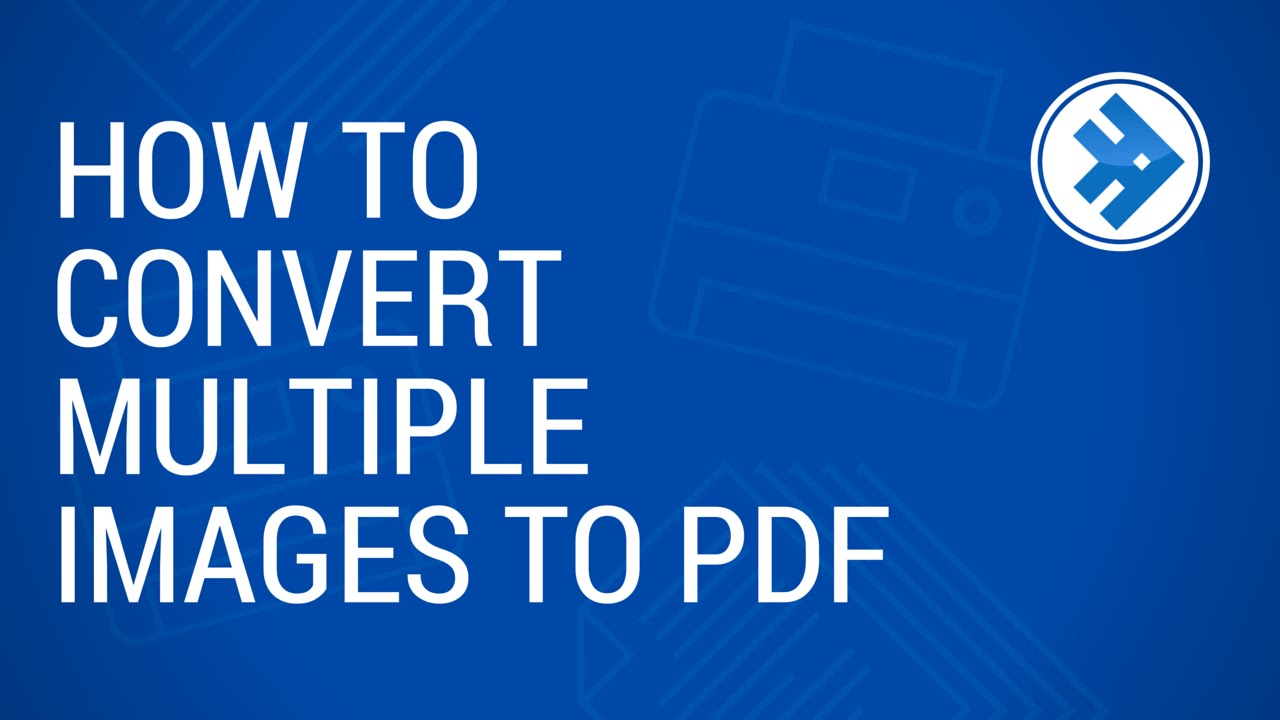 how to convert multiple images to pdf