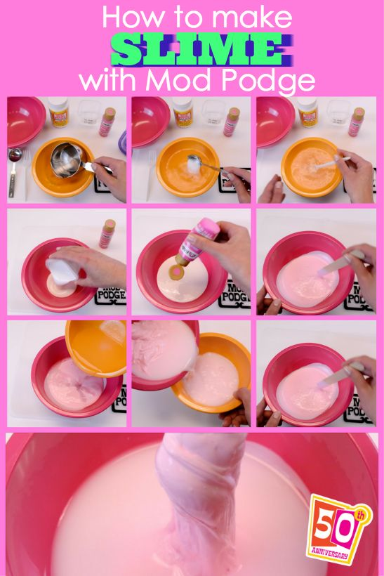 how to make glossy slime instructions