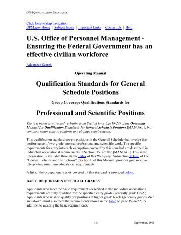 ifpm qualifications standards and guide