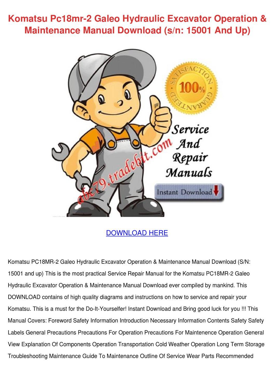 komatsu pc18mr service manual