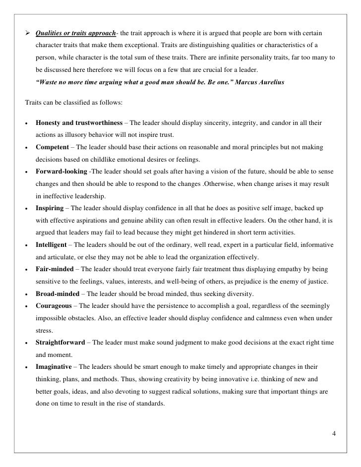 leadership traits pdf
